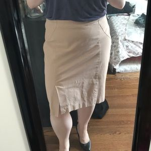 Dusty Peach Pencil Skirt